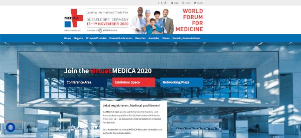 Die virtuelle MEDICA der Messe Düsseldorf (Foto: dimedis)